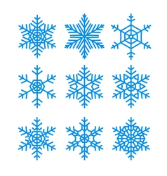 Snowflakes set pack of snowflakes design templates vector