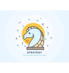 Strategy Icon with a Unicorn vector image vector image