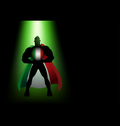 superhero standing under the green light vector image