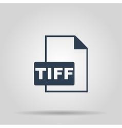 TIFF Icon concept for design vector image