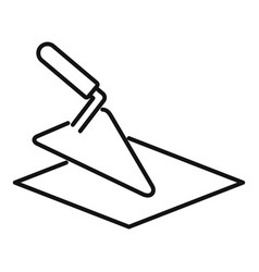 tiler trowel icon outline style vector image