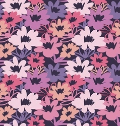 Vintage flower seamless pattern vector