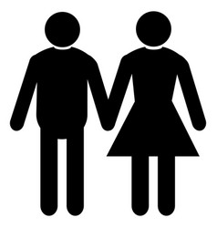 Wedding married couple mel femal vector