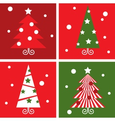 winter christmas trees vector image