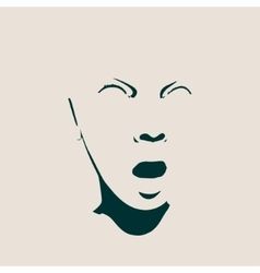 Woman avatar expressions face emotions vector