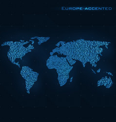 world abstract map europe accented vector image