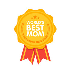 World best mom badge award vector