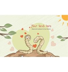 Worms in love vector