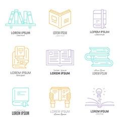 Literature logos vector