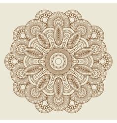 Round floral henna tattoo mandala vector image vector image