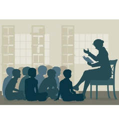 Story reading vector image vector image