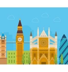 London United Kingdom flat icons design travel vector image vector image
