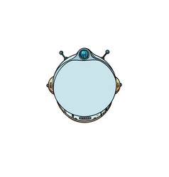 space helmet isolated on white background vector image vector image