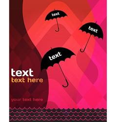 Umbrella background vector image