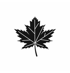 Maple leaf icon simple style vector image vector image