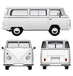 Retro White Van vector image vector image