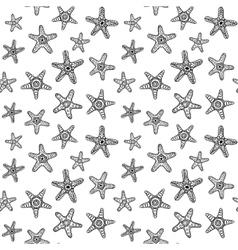 Sea Stars Seamless Pattern vector image vector image
