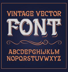 vintage label font vector image