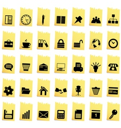 Business and office set vector image vector image