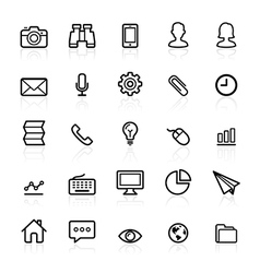 Business line icons vector image vector image