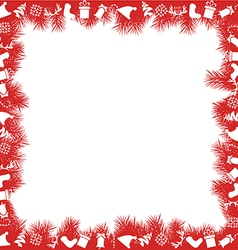 Christmas Frame with Toys vector image