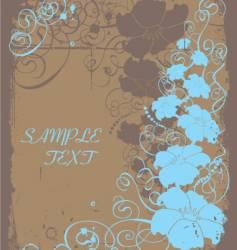 floral copy space vector image