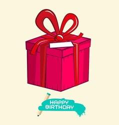 Happy Birthday with Gift Box vector image vector image