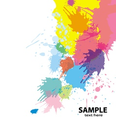 paint splatter background vector image vector image