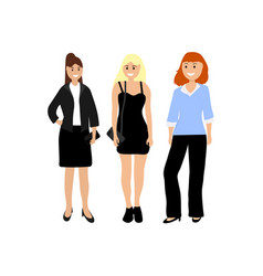A diverse woman on white background different vector