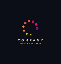 abstract motion circle dot lighting logo icon vector image