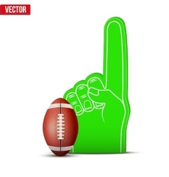 American football Sports Fan Foam Fingers and ball vector image