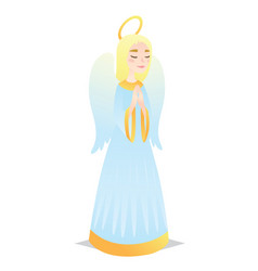 Angelic girl cute young woman in style angel vector