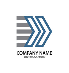 arrow business logo vector image