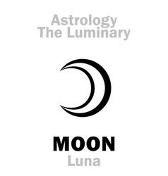 Astrology luminary moon luna vector