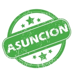 Asuncion green stamp vector