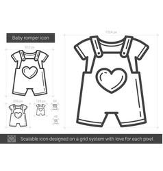 baby romper line icon vector image
