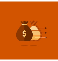 Big sack with money financial investment safety vector