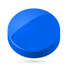 Blue disk isolated on white background vector