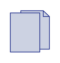 Blue silhouette of sheets in blank vector