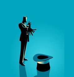 Businessman as a magician vector