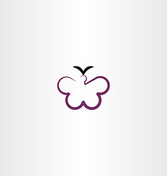 butterfly clipart icon vector image