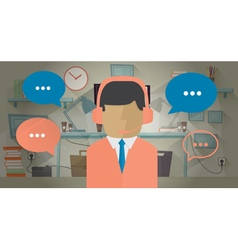Call center operator in the office vector