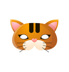 Carnival halloween masquerade cat mask isolated vector
