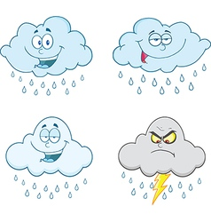 Cartoon weather vector image