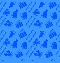 Cinema pattern seamless cartoon style vector