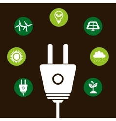 clean energy design vector image