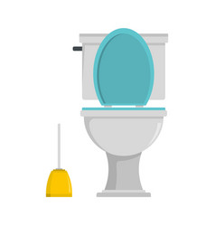 Comfort toilet icon flat style vector