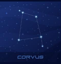 constellation corvus crow night star sky vector image