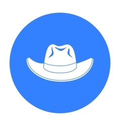 Cowboy hat icon in black style isolated on white vector