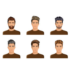 create change hairstyle choices for men vector image